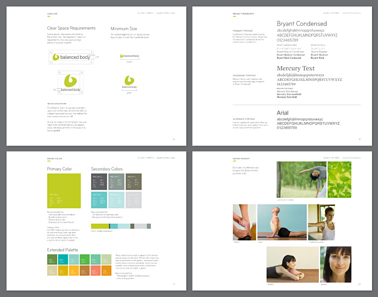 Balanced Body brand book pages
