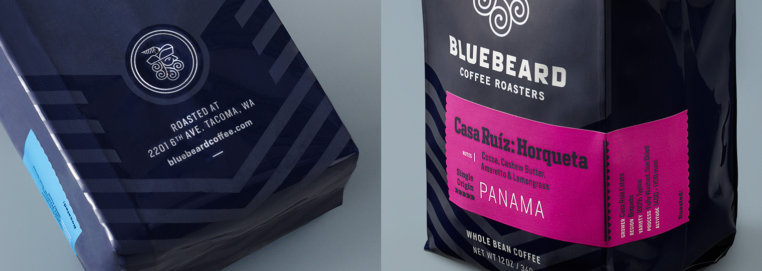 Bluebeard Coffee Roasters bag details
