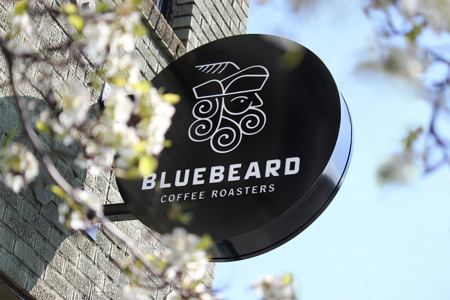 Bluebeard Coffee Roasters sign