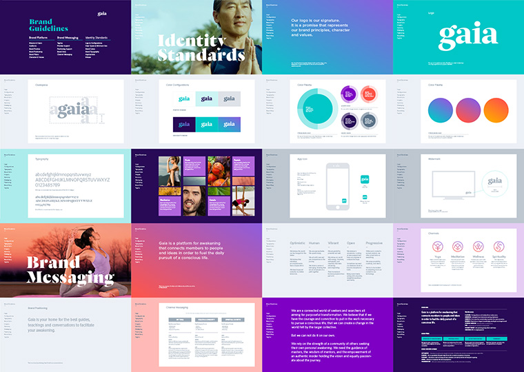 Gaia brand guidelines thumbnails