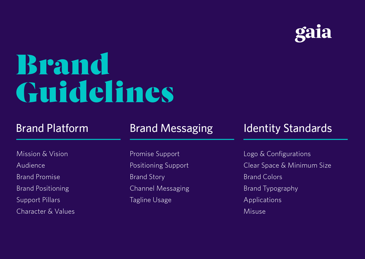 Gaia brand guidelines