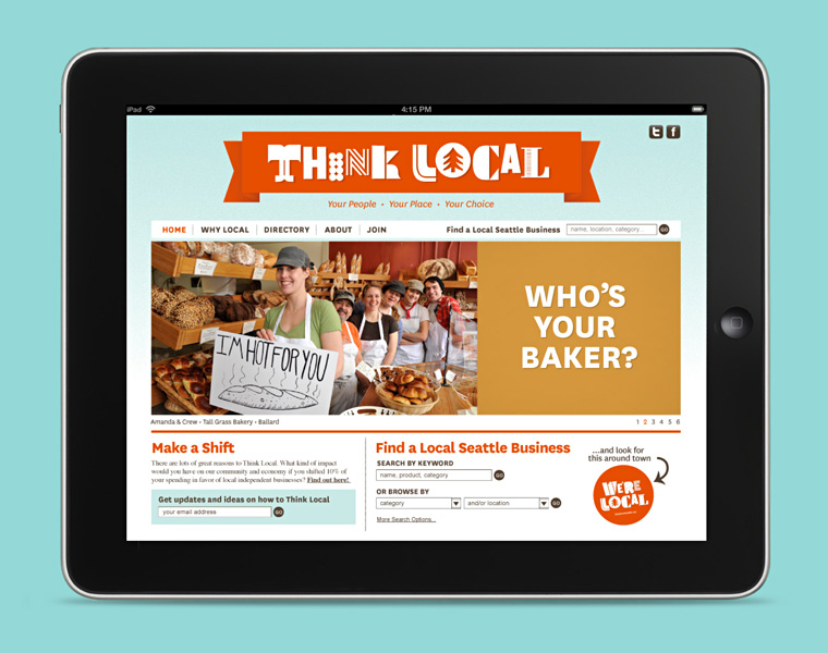 Think Local website